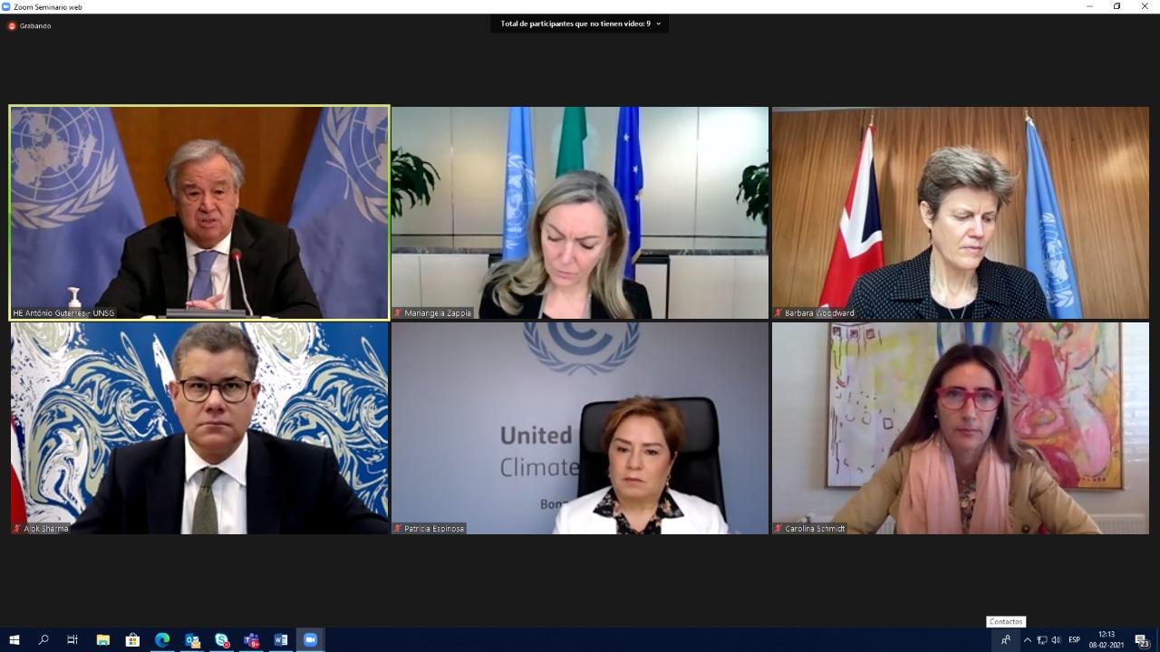 Presidenta de COP25 participa en evento clave camino a COP26