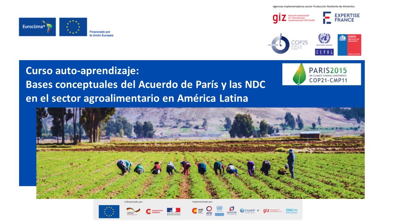 Concluye el curso virtual sobre bases conceptuales del Acuerdo de París y las NDC en el sector agroalimentario en América Latina